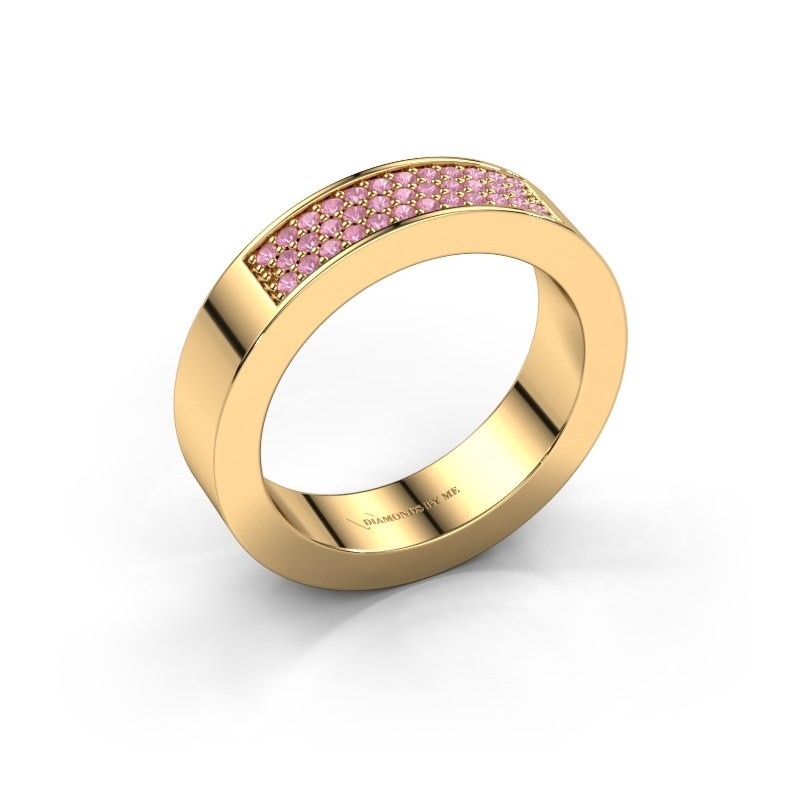 Ring Lindsey 1 375 gold pink sapphire 1.1 mm