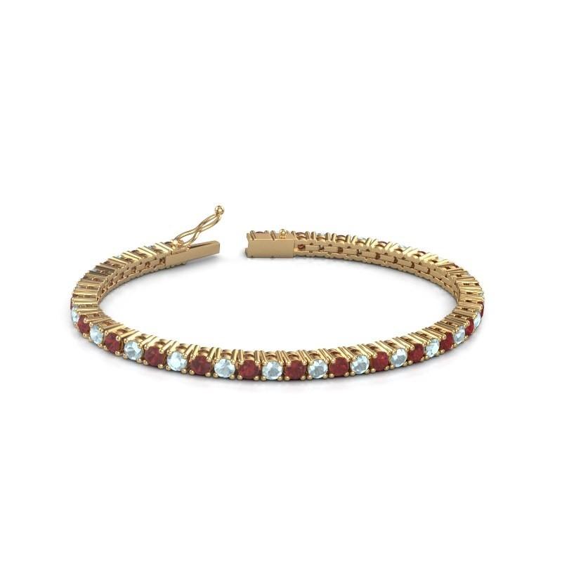 Tennisarmband Jenny 375 goud robijn 3.5 mm