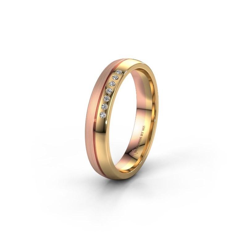 Wedding ring WH0216L24APM 585 gold zirconia ±4x1.7 mm