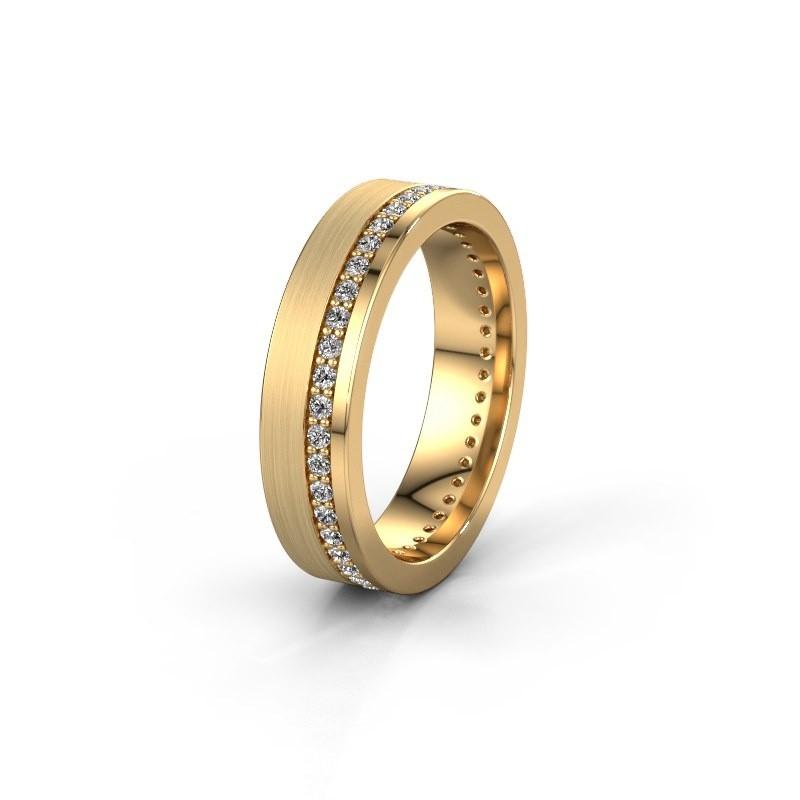 Trouwring WH0303L15BPM 585 goud lab-grown diamant 0.44 crt ±5x2 mm