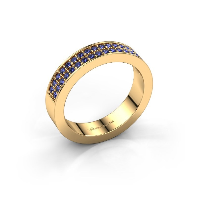 Stackable ring Catharina 4 375 gold sapphire 1.3 mm