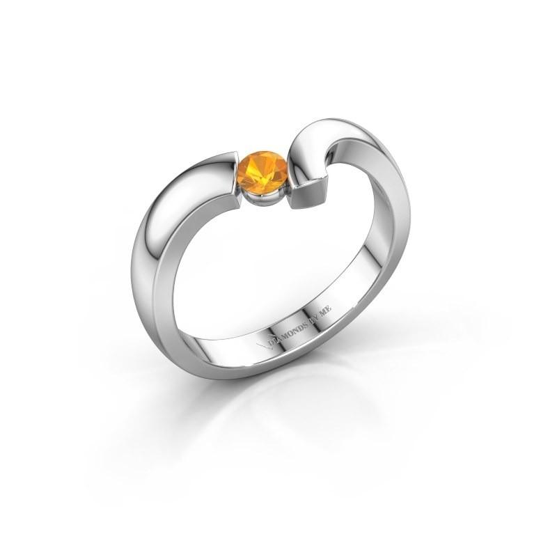 Ring Arda 925 zilver citrien 3.4 mm