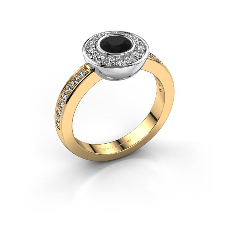Ring Ivy 585 Gold Schwarz Diamant 1.02 crt