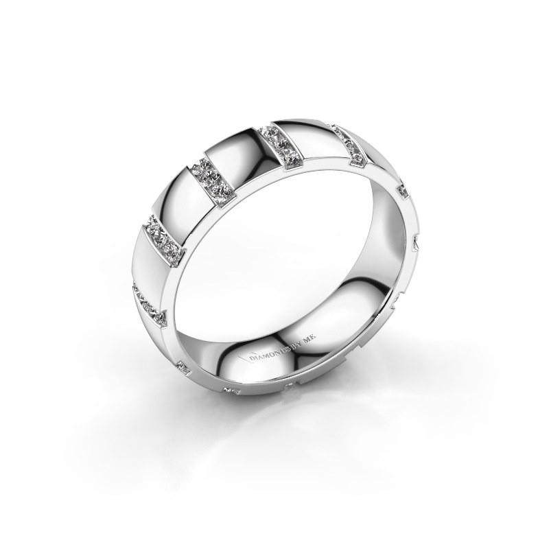 Huwelijksring Juul 585 witgoud diamant ±5x1.8 mm