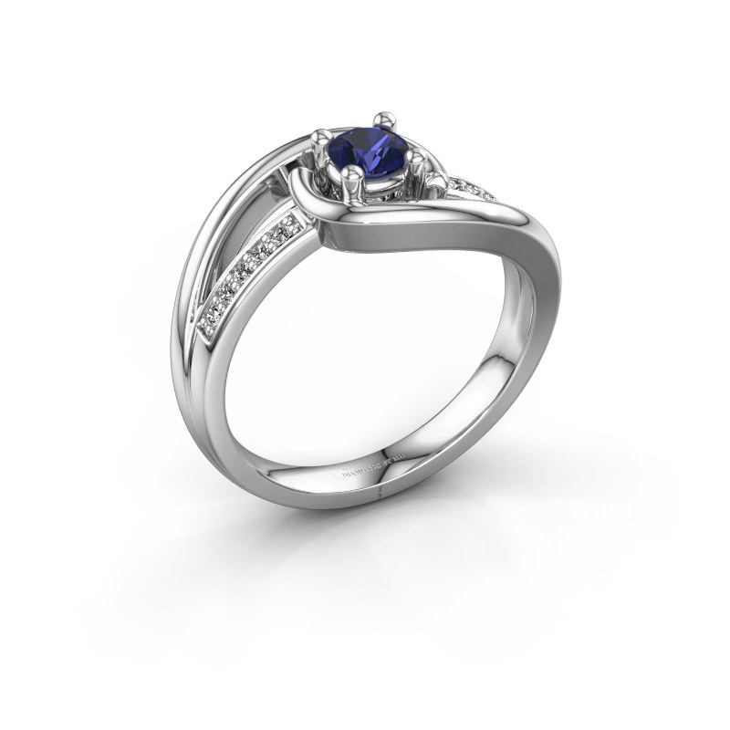 Ring Aylin 925 silver sapphire 4 mm