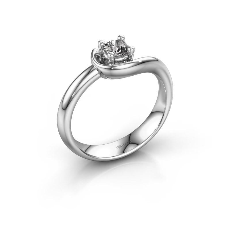 Ring Lot 585 Weißgold Zirkonia 4 mm