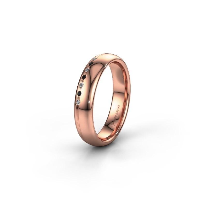 Vriendschapsring WH2144L34A 585 rosé goud zwarte diamant ±4x1.7 mm