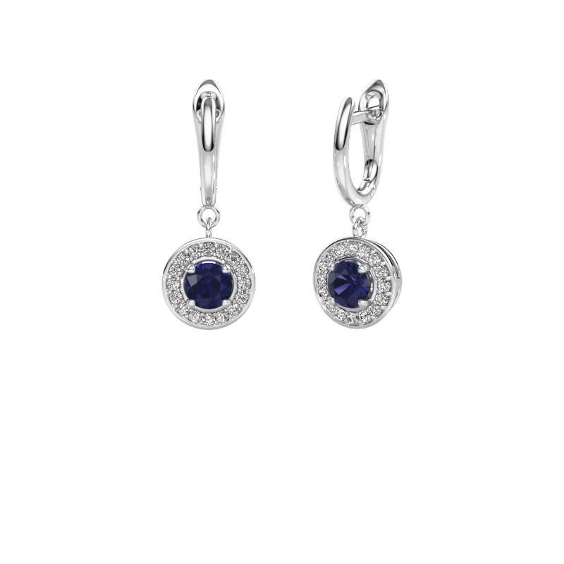 Drop earrings Ninette 1 950 platinum sapphire 5 mm