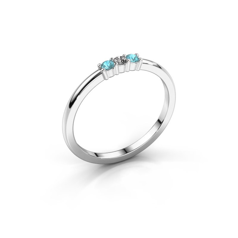 Engagement ring Yasmin 3 585 white gold diamond 0.03 crt