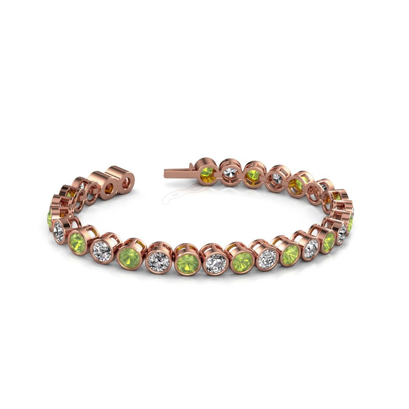 Tennis bracelet Allegra 5 mm 375 rose gold peridot 5 mm