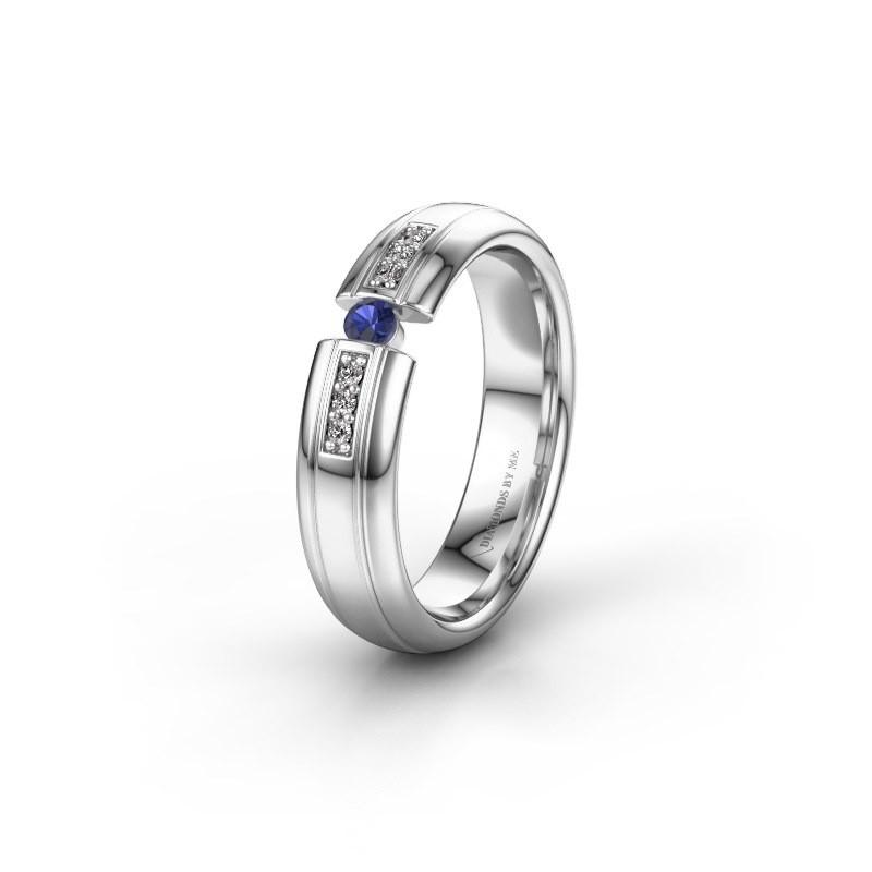 Wedding ring WH2128L26C 950 platinum sapphire ±5x2 mm