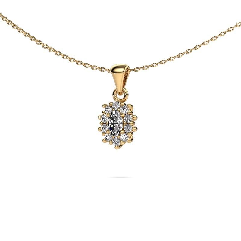 exklusiver gold kette mit crt diamant leesa selbst gestalten. Black Bedroom Furniture Sets. Home Design Ideas