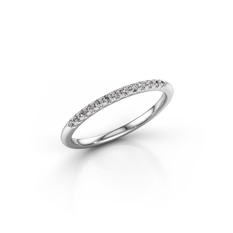 Stackable ring SR10B6H 950 platinum diamond 0.168 crt