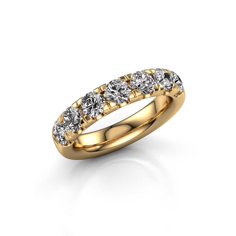 Aanschuifring Jackie Half 375 goud diamant 1.75 crt