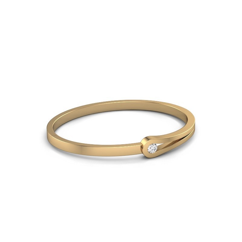 Bracelet jonc Kiki 585 or jaune diamant 0.30 crt