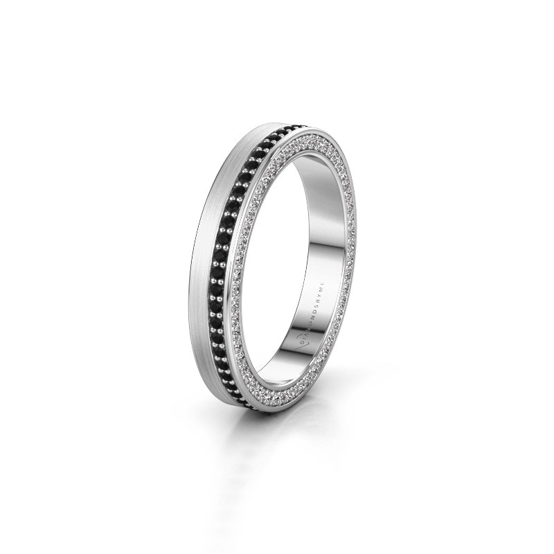 Wedding ring WH2214L15BM 950 platinum black diamond 0.605 crt ±3,5x2 mm