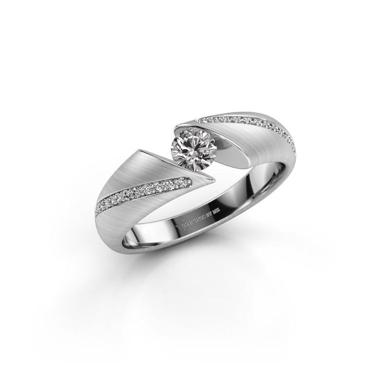 Verlobungsring Hojalien 2 585 Weißgold Lab-grown Diamant 0.42 crt