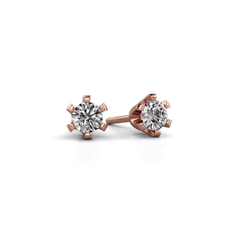 Oorstekers Shana 585 rosé goud lab-grown diamant 0.25 crt