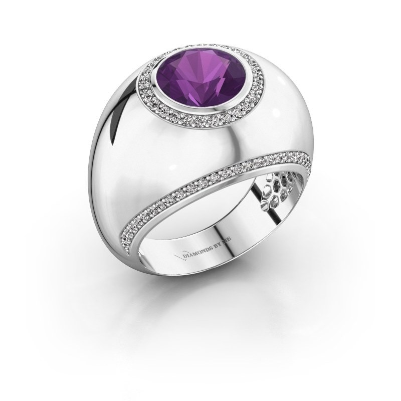 Ring Roxann 925 silver amethyst 8 mm