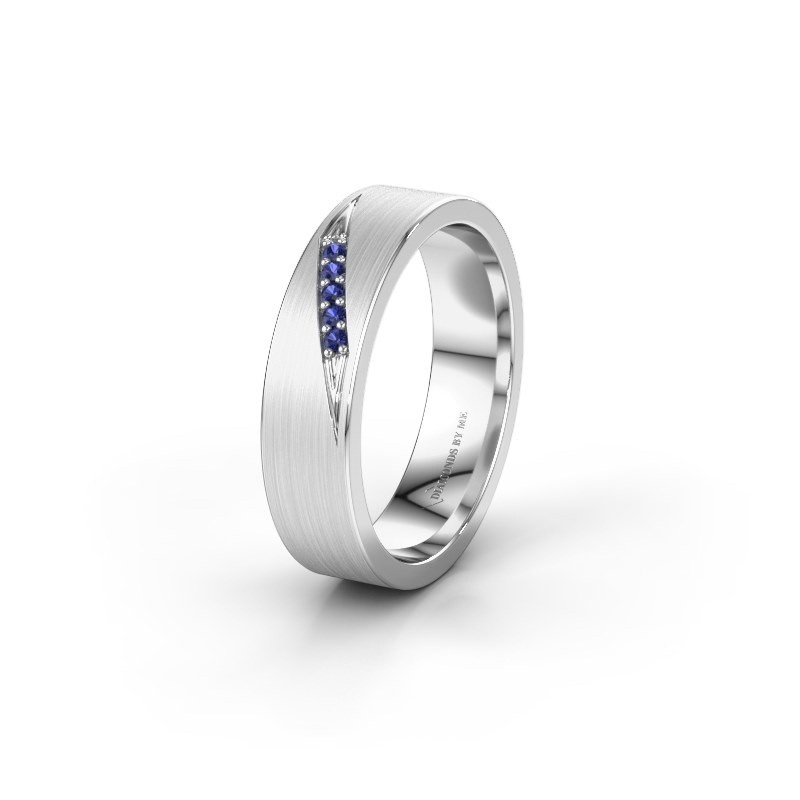 Wedding ring WH2148L25AM 925 silver sapphire ±5x1.7 mm