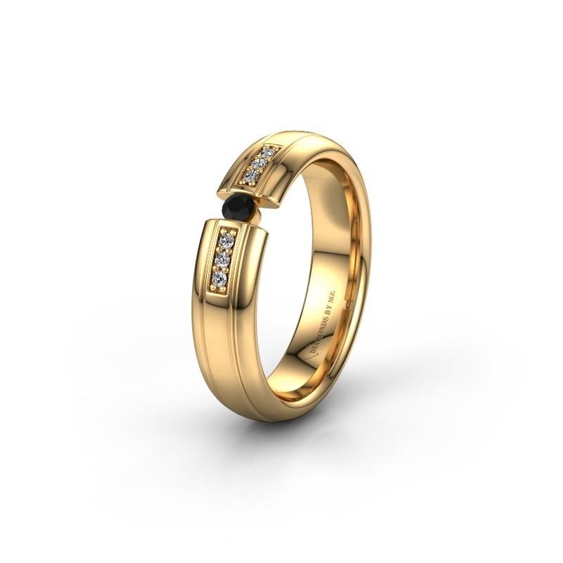 Wedding ring WH2128L26C 585 gold black diamond ±5x2 mm