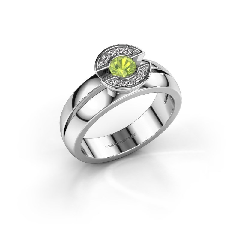 Ring Jeanet 1 950 platina peridoot 4 mm