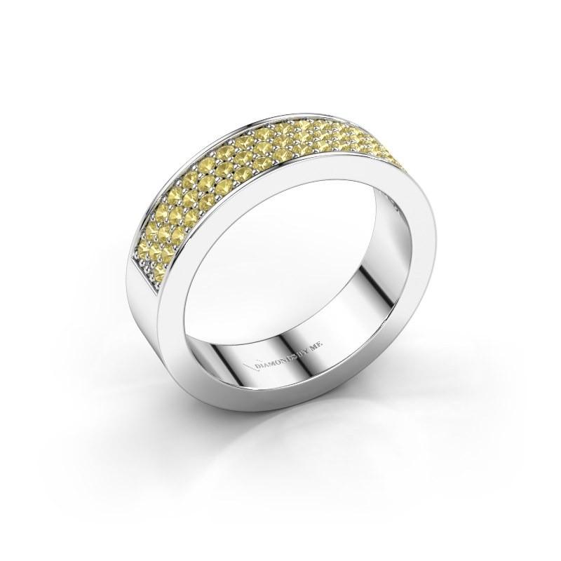 Ring Lindsey 4 925 zilver gele saffier 1.3 mm