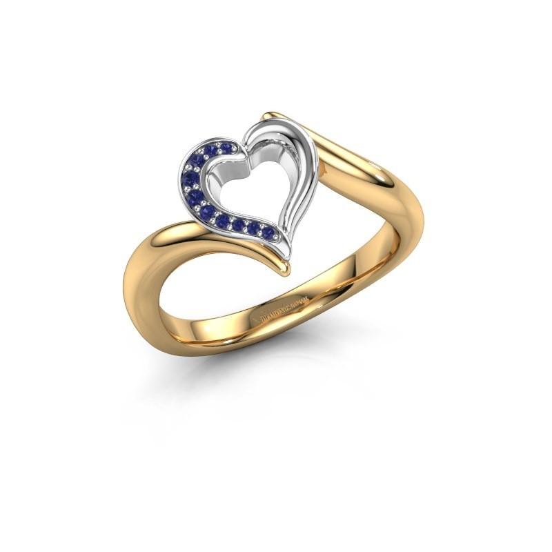Ring Katlyn 585 goud saffier 0.8 mm