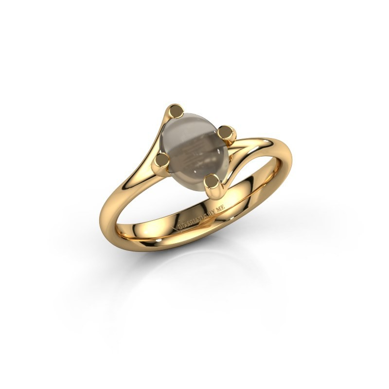 Ring Nora 585 goud rookkwarts 8x6 mm