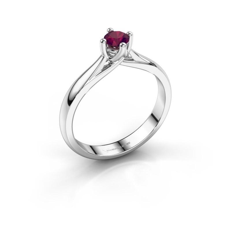 Engagement ring Janne 950 platinum rhodolite 4.2 mm