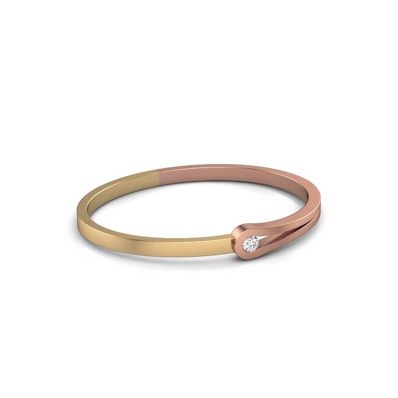 Slavenarmband Kiki 585 rosé goud diamant 0.30 crt