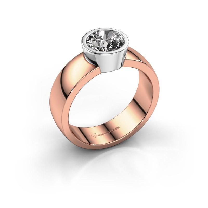 Ring Ise 1 585 rosé goud diamant 1.00 crt