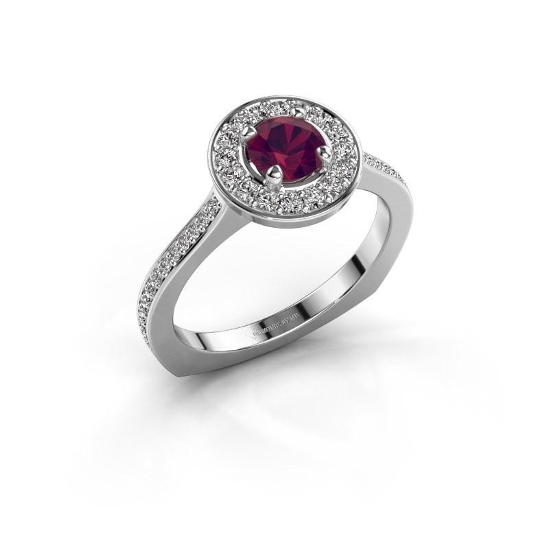 Ring Kanisha 2 925 zilver rhodoliet 5 mm