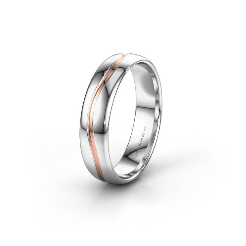 Wedding ring WH0905M35X 585 white gold ±5x1.5 mm