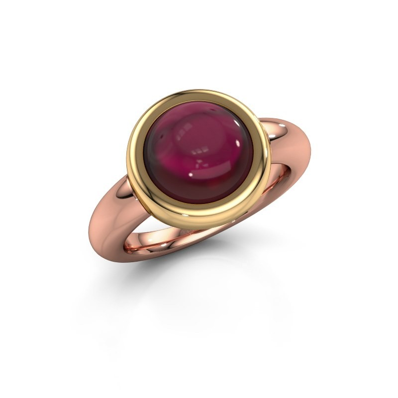 Bague Jenae 585 or rose grenat 10 mm