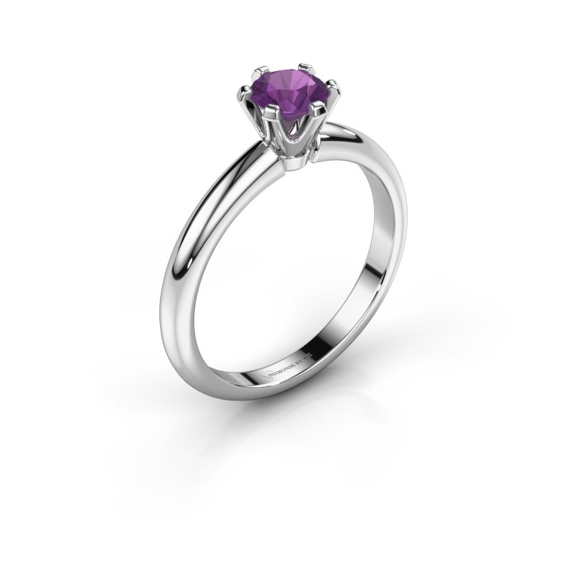 Engagement ring Tiffy 1 585 white gold amethyst 5 mm