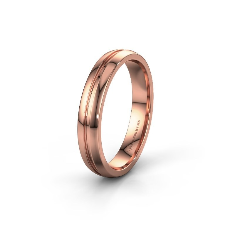 Wedding ring WH0424M24A 585 rose gold ±0.16x0.07 in