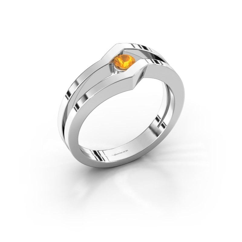 Ring Elize 925 zilver citrien 3.4 mm
