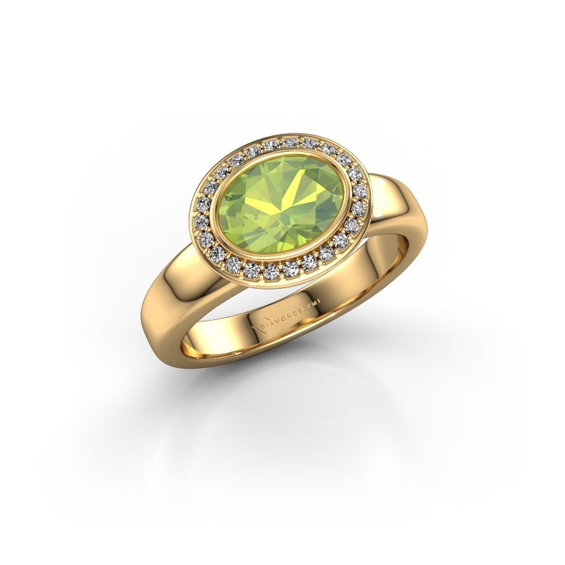 Ring Salena 585 goud peridoot 8x6 mm