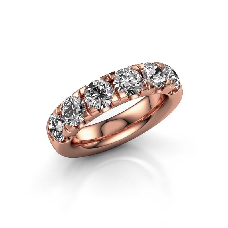 Aanschuifring Jackie Half 375 rosé goud diamant 2.40 crt