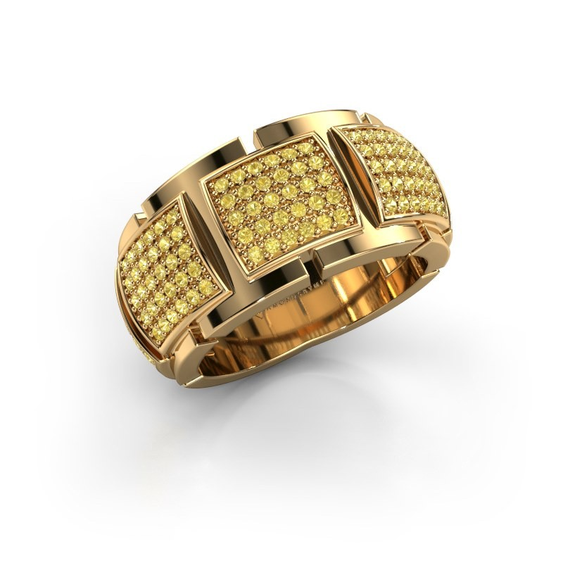 Ring Laura 375 goud gele saffier 1 mm