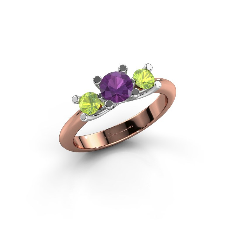 Ring Mirthe 585 rose gold amethyst 5 mm