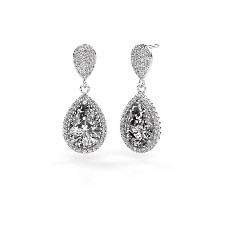 Oorhangers Tilly per 2 585 witgoud diamant 6.690 crt