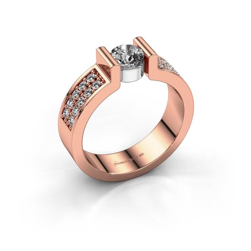 Verlovingsring Isabel 3 585 rosé goud lab-grown diamant 0.80 crt