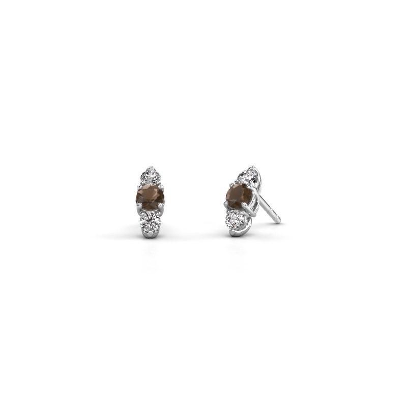 Oorbellen Amie 925 zilver rookkwarts 4 mm