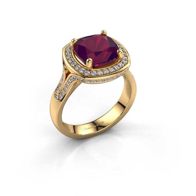 Ring Lili 375 goud rhodoliet 9 mm