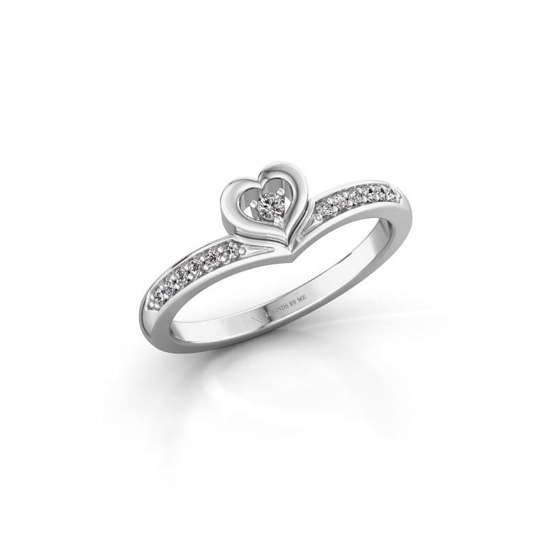 Ring Mimi 585 witgoud zirkonia 2 mm