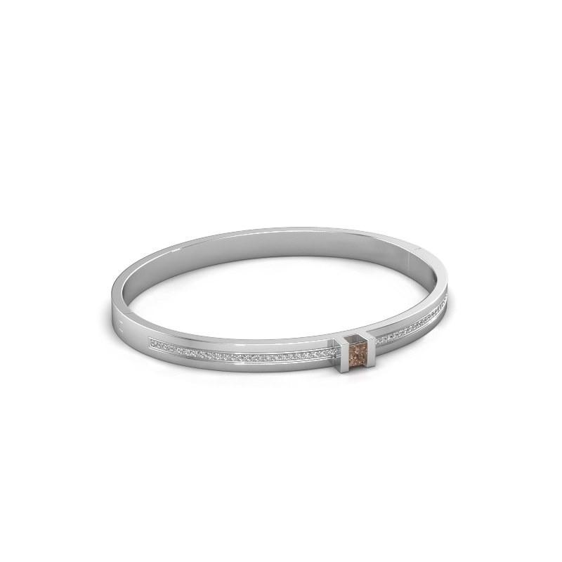 Armband Desire 585 witgoud bruine diamant 0.79 crt