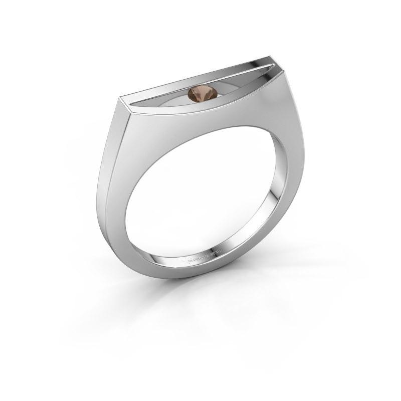 Ring Milou 925 silver smokey quartz 3 mm