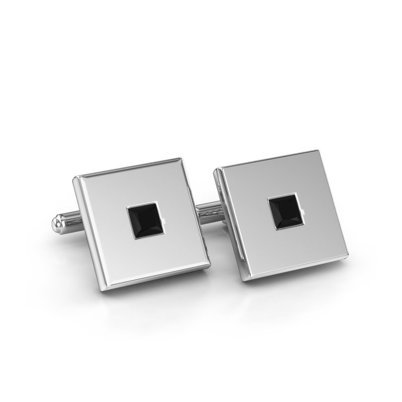 Cufflinks Givanti 925 silver black diamond 0.96 crt